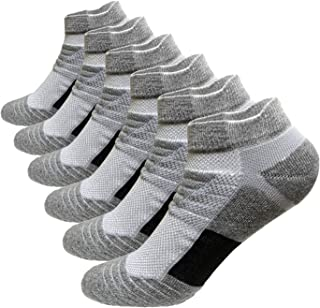 Men's Ankle Athletic Socks 6 Pairs Running Sports Performance Best Comfort Cushioned Low Cut Tab Socks L And XXL