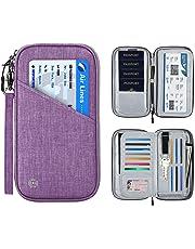 SHINPACK パスポートケース スキミング防止 アコーディオンデザイン 家族 国内海外旅行用品 四つのパスポート 通帳ケース 航空券 紙幣 カード 小銭 ペン 鍵など収納可 大容量 トラベルウォレッド パスポートバッグ ポーチ