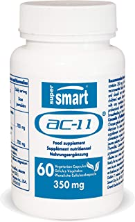 Supersmart - Anti-Aging - AC-11® Supplement - Revolutionary Botanical Extract That Can Help Repairing Damaged DNA. Each Capsule 350 Mg - Non-GMO - 60 Vegetarian Capsules