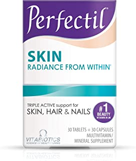 Vitabiotics Perfectil Skin Multivitamin | Softer, Stronger, and Brighter Skin | Formula for Healthy Skin | Vitamin D, Vitamin E, Collagen, Biotin, and More