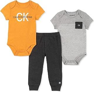 Calvin Klein Baby Boys 3 Pieces Bodysuit Pants Set