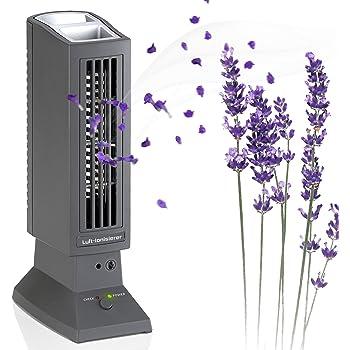 Purificatore dAria Colore Argento Ionizzatore Oberholz Office A oneConcept St Filtro in Acciaio Inox e Filtro ai Carboni Attivi Ventilatore Ventola Integrata