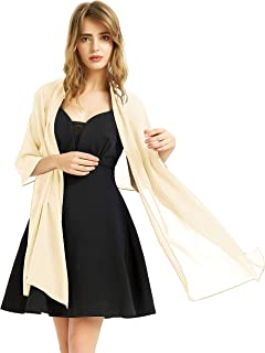 Elegant Soft Chiffon Bridal Womens' Scarf Shawls Wraps for Dresses Women Accessories