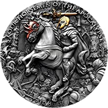 2019 NU RED HORSE FOUR HORSEMEN OF THE APOCALYPSE 2oz silver coin antiqued Ultra High Relief $5 Perfect Uncirculated