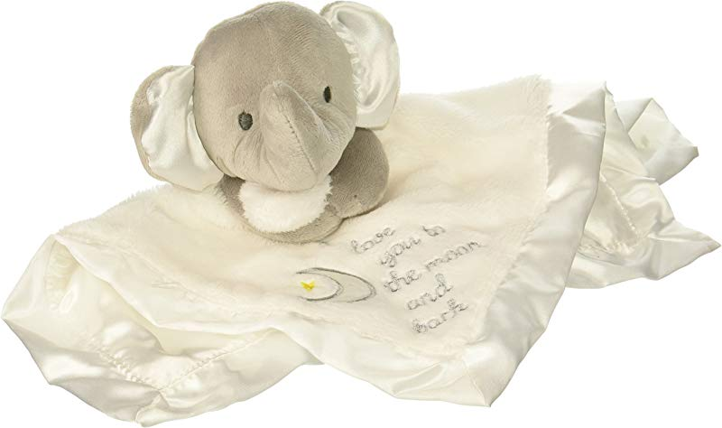 Baby Starters I Love You To The Moon And Back Security Blanket White Grey