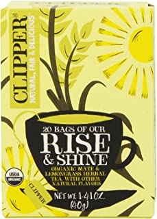 Clipper Fair Trade Organic Tea, Rise and Shine, 20 Count (Pack of 6)