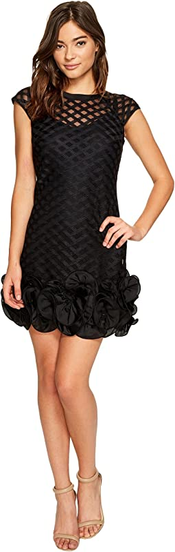 S/S Lace Dress w/ Ruffle Hem