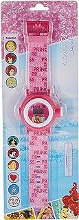 ساعة يد اميرات ديزني رقمية للاطفال بمصباح يدوي وجهاز لعرض 10 صور ونظام الكتروني للارتداء في الخارج