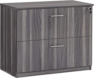 Safco MVLFLGS Medina Lateral File Cabinet, 2 Drawer, Gray Steel