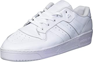 adidas Originals Men's Rivalry Low Sneaker, White/White/Black, 19