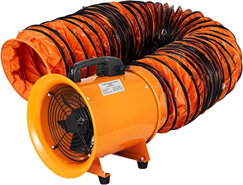 lowest OrangeA Utility Blower Fan 8 inch Portable Ventilator High Velocity Utility Blower Mighty Mini Low Noise with 5M Duct Hose (8 discount inch Fan with 5M sale Hose) online