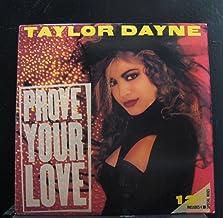 "Taylor Dayne: Prove Your Love 12"" NM Canada Arista AD1-9677"