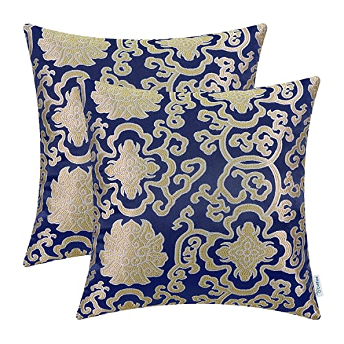 Prime Navy And Cream Throw Pillows For Couch Amazon Com Home Interior And Landscaping Dextoversignezvosmurscom