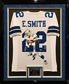 Emmitt Smith Autographed Jersey - Framed Painted - PSA/DNA Certified - Autographed NFL Jerseys