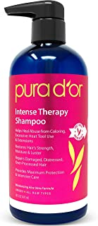 PURA D'OR Intense Therapy Shampoo Repairs Damaged, Distressed, Over-Processed Hair, Infused with Natural Ingredients, Sulf...