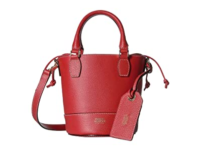 Frances Valentine Double Handle Small Bucket (Red) Handbags