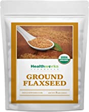 Healthworks Flax Seed Ground Powder Cold Milled Raw Organic (48 Ounces / 3 Pounds) | All-Natural | Contains Protein, Fiber...