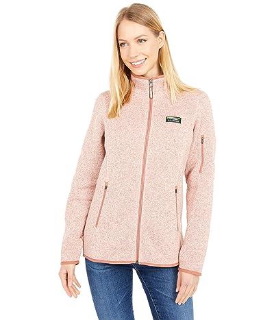 L.L.Bean Sweater Fleece Full Zip Jacket (Adobe Rose) Women