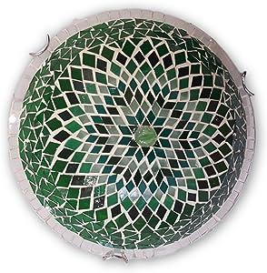 Art-Win Lighting W10025 Green Handmade Turkish Mosaic Ceiling Lamp