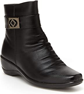 Best faux leather black ankle boots Reviews