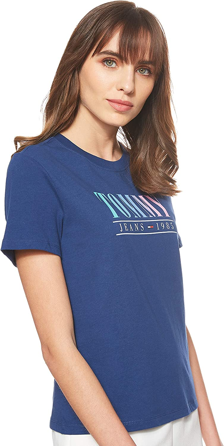 Tommy Hilfiger Summer Multicolor Tommy tee Camiseta para Mujer