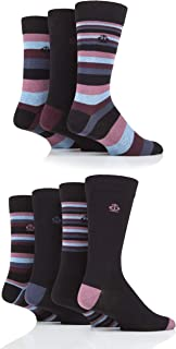 Jeff Banks Mens Mixed Stripes Cotton Socks Pack of 7