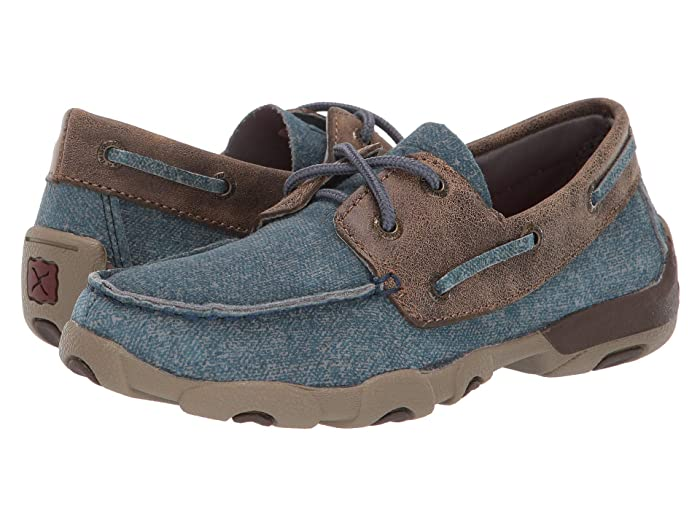 Twisted X  Driving Moc Boat Shoe (Little Kid/Big Kid) (Jeans/Bomber) Shoes