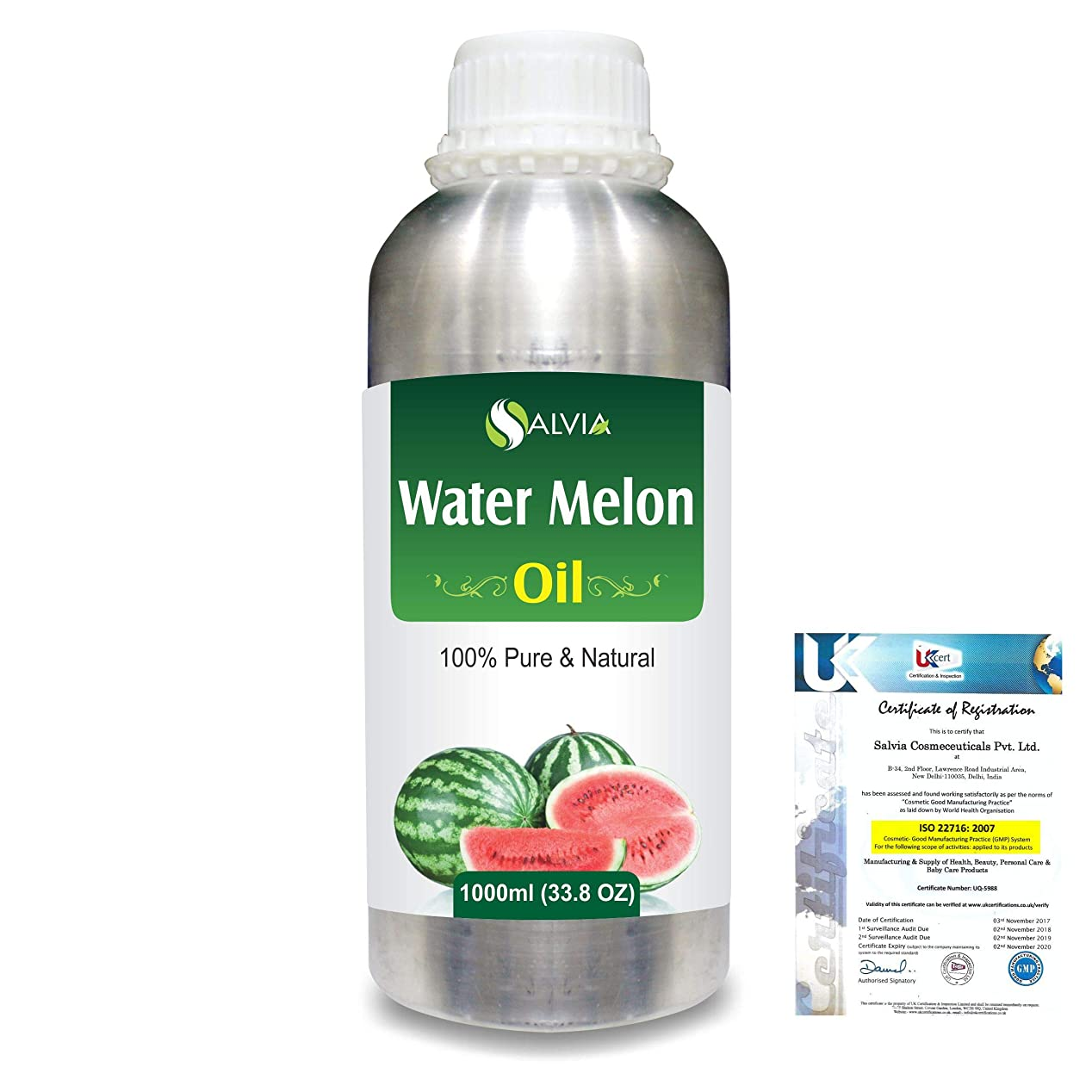 実現可能性処理クラフトWater Melon (Citrullus Vulgaris) 100% Pure Natural Carrier Oil 1000ml/33.8fl.oz.
