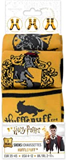 Cinereplicas, Cinereplicas Harry Potter - Pack de 3 unisexos - Calcetines con emblemas Hogwarts - Zapatos 6 a 12 Hufflepuff