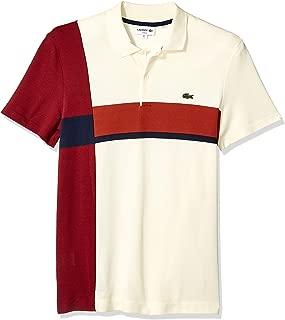Lacoste Men's S/S Colorblock 2 Ply Regular Pique Polo Slim Fit