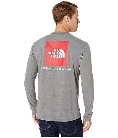 The North Face Long Sleeve Red Box T-Shirt (TNF Medium Grey Heather/TNF Red) Men