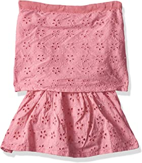 Giggles Laser Cut Out Detail Dress for Girls