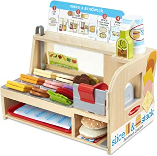 Melissa and Doug MD31650 Slice & Stack Sandwich Counter Play Set,Multi