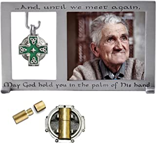 Cathedral Art PF403 Celtic Memorial Frame with Vial for Ashes, 5-1/4 by 3-Inch