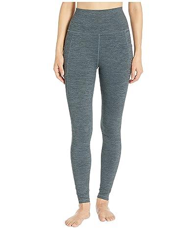 manduka Essential Pocket Leggings (Green Ivy Melange) Women