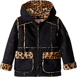 Ultra Suede Faux Shearling Hooded Jacket (Toddler)