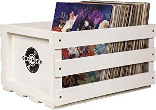 Crosley AC1004A-WH Record Storage Crate Holds up to 75 Albums, White