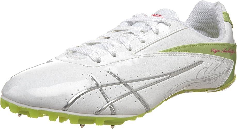 ASICS Wohommes Hyper-Rocketgirl SP 4 Track And Field chaussures,blanc lumièrening Kiwi,8 M