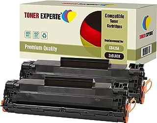 Pack de 2 TONER EXPERTE® Compatibles CB435A 35A Cartuchos de Tóner Láser para HP Laserjet P1005, P1006, P1007, P1008, P1009, Canon LBP-3010, LBP-3018, LBP-3050, LBP-3100, LBP-3108, LBP-3150