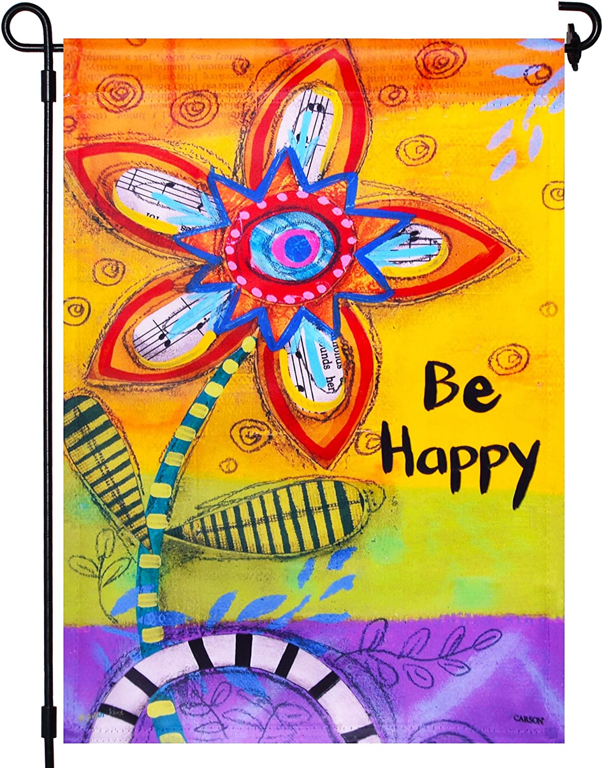 LAYOER Home Garden Flag 12.5 x 18 Inch Double Sided Welcome Be Happy Decorative Flags Children's Day (Oil Painting Flower)