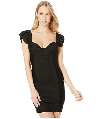 BCBGeneration Ruffle Bodycon Knit Dress (Black) Women