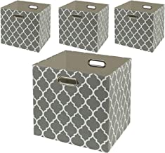 Posprica Foldable Storage Bins, Baskets for Cube Storage, Closet Containers, Fabric Boxes for Shelves with Above Average Q...