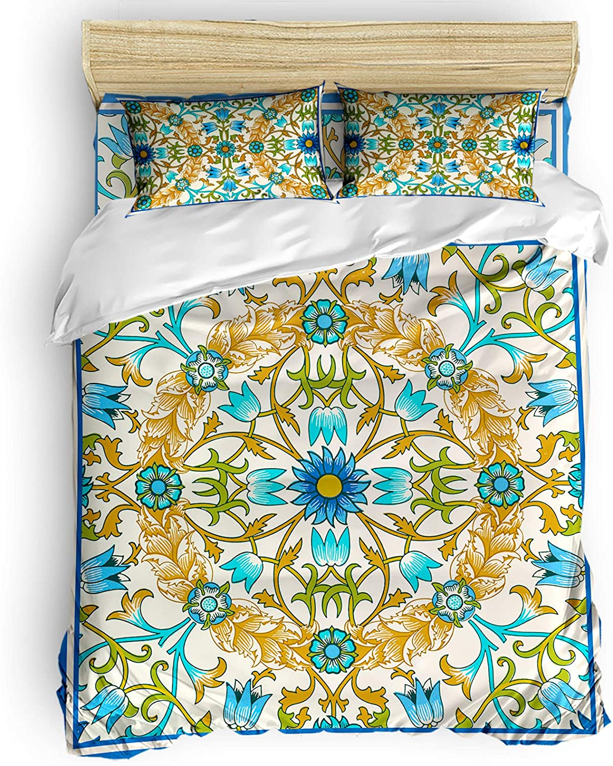 BABE MAPS Floral Duvet Genuine Covers King 4 Many popular brands Pieces Breathable Size Micr