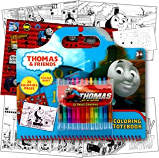 Thomas The Train Coloring Activity Set with Twist Crayons, Coloring Book Activity Pages, & 1 Large Sheet of Stickers ~ Plu...