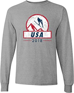 Ski Jumping 2018 Winter Sports Games Long Sleeve T Shirt