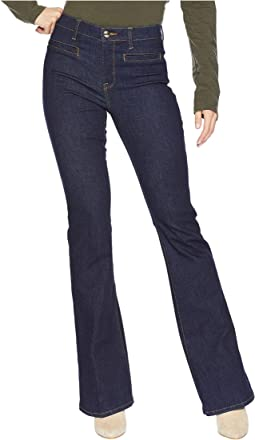 Denim Dark Rinse Flare Jeans