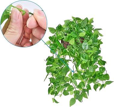 Plantes artificielles suspendues avec Panier 3.6ft Faux Lierre Vigne Plantes de Verdure suspendues pour la décoration intérie