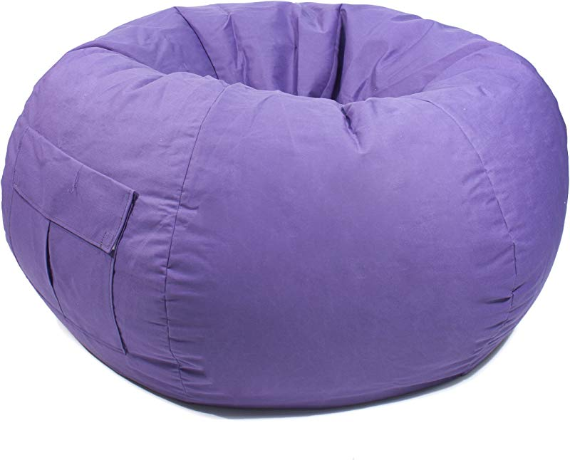 Gold Medal Bean Bags 31012884917 X Large Denim Bean Bag With Pocket Purple