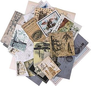 Autocollants de Scrapbooking,36 Pcs Ephemera Pack Vintage Sticker Set Vintage Stickers DIY Sticker décoratif Pack Autocoll...