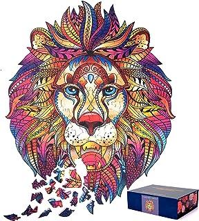 Shmily Puzzles Animaux Uniques pour Adultes Enfants Adolescents Puzzle en Bois Cadeau Populaire Jouets éducatifs Jeu de Fa...